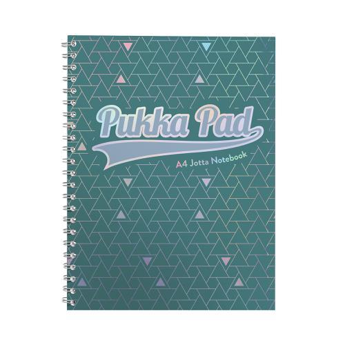Pukka GLEE Jotta Notepad 200Pg 80gsm Wirebound A4 pls Green Ref 3008GLE [Pack 3]