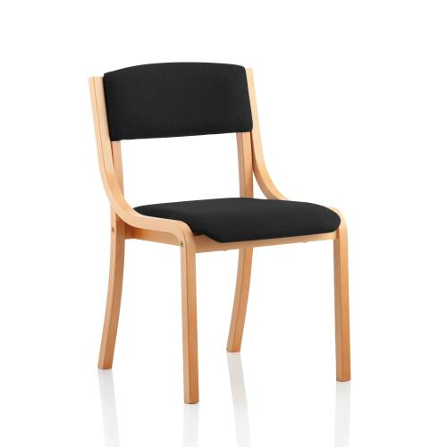 Trexus Wood Frame Conference Chair No Arms Black 450x490x450mm Ref BR000086