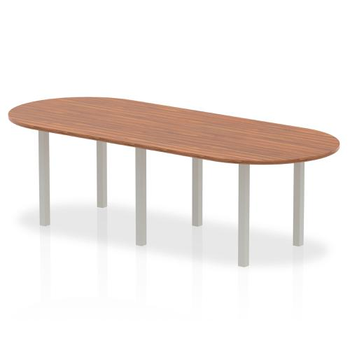 Trexus Boardroom Table 2400x1200x730mm Walnut Ref I000144