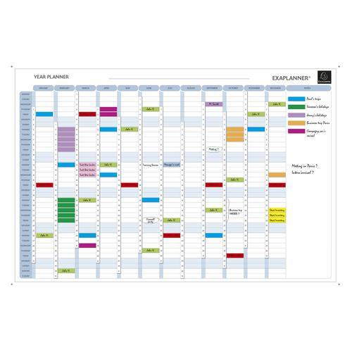 Exacompta Perpetual Magnetic Yearly Planner 900x50x590mm Ref 56153E