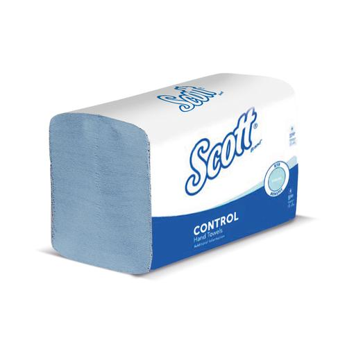 SCOTT XTRA Hand Towels 1-ply 200x315mm 240 Towels per Sleeve Blue Ref 6682 [Pack 15 Sleeve]