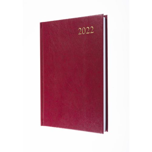 5 Star Office 2022 Diary Day to Page Casebound and Sewn Vinyl Coated Board A5 210x148mm Red