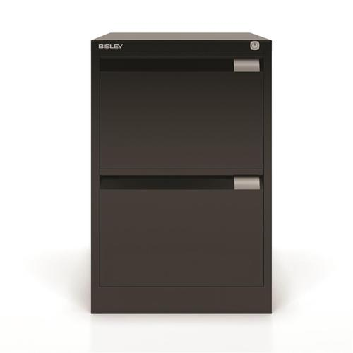 Bisley Filing Cabinet 2 Drawer 470x622x711mm Black Ref 1623-av1