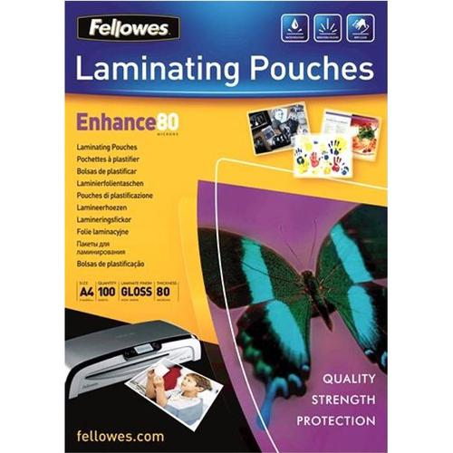 Fellowes Laminating Pouches 160 Micron A4 Ref 53061 [Pack 100]