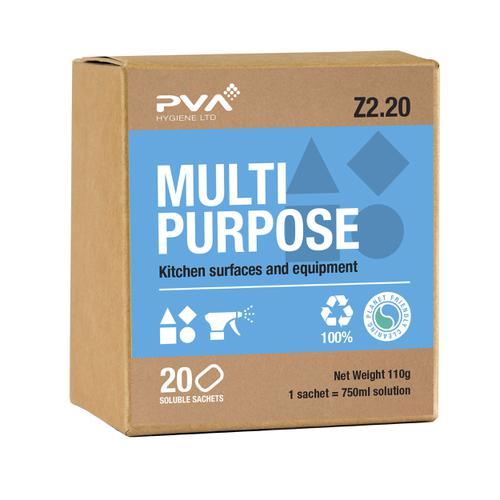 PVA Multi-purpose Kitchen Surface & Equipment Sachets Ref 4018002 [Pack 20]