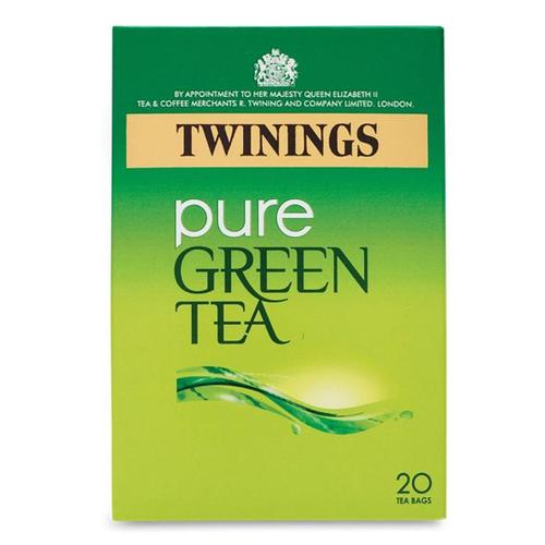 Twinings Pure Green Tea Bags Individually-wrapped Ref 0403258 [Pack 20]