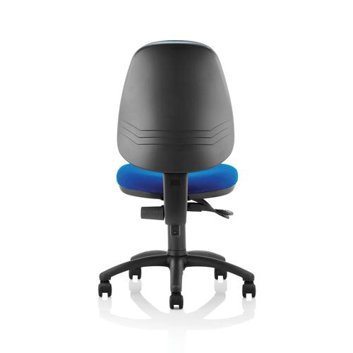 5 Star Office 2 Lever High Back Permanent Contact Operators Chair Blue 480x450x490-590mm Ref OP000025 by OTGroup, 186895