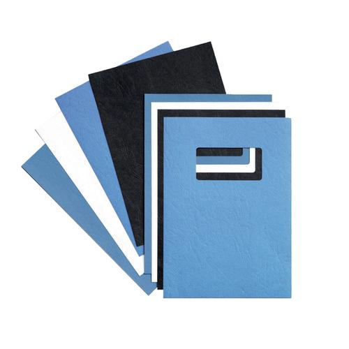 GBC Binding Covers Leatherboard Window 250gsm A4 White Ref 46715E [Pack 25x2]