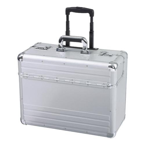 Alumaxx Omega Trolley Pilot Case 2 Combination Locks 5.3kg Silver Aluminium Ref 45122