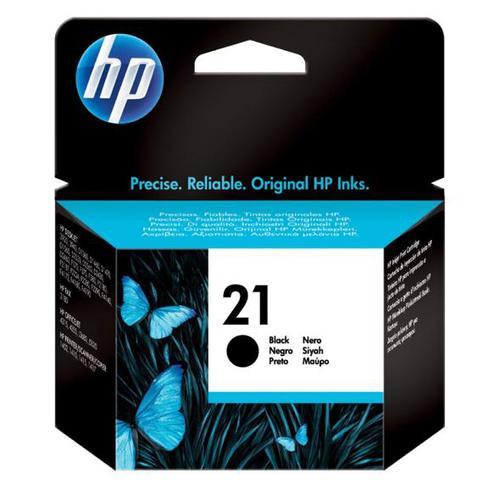 Hewlett Packard [HP]No.21 Inkjet Cartridge Page Life 190pp 5ml Black Ref C9351AE
