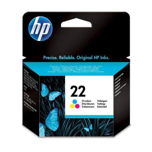 Hewlett Packard [HP] No.22 Inkjet Cartridge Page Life 165pp 5ml Colour Ref C9352AE