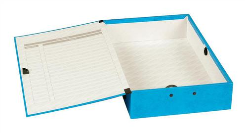 Concord Contrast Box File Laminated 75mm Spine Foolscap Sky Blue Ref 13478 [Pack 5]