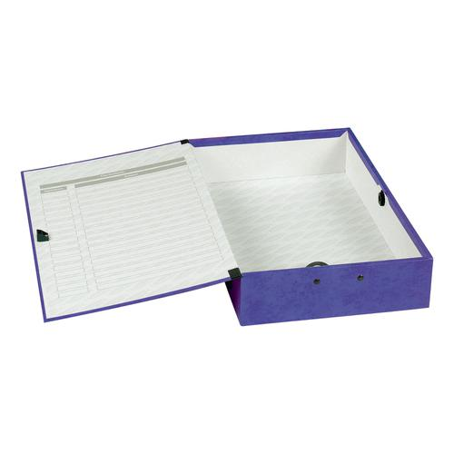 Concord Contrast Box File Laminated 75mm Spine Foolscap Purple Ref 13484 [Pack 5]