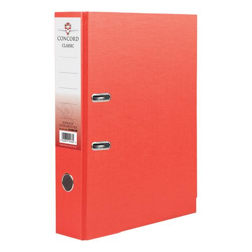 Concord Classic Lever Arch File Capacity 70mm A4 Red Ref C214041 [Pack 10]