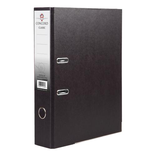 Concord Classic Lever Arch File Capacity 70mm A4 Black Ref C214046 [Pack 10]