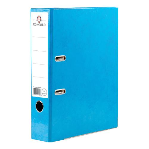 Concord Contrast Lever Arch File Laminated Capacity 70mm A4 Sky Blue Ref 214700 [Pack 10]