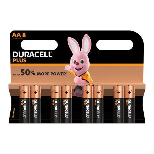 Duracell Plus Power Battery Alkaline 1.5V AA Ref 81275377 [Pack 8]