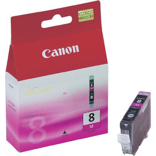 Canon CLI-8M Inkjet Cartridge Page Life 565pp 13ml Magenta Ref 0622B001