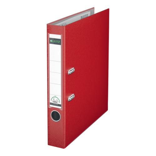 Leitz Mini Lever Arch File Plastic 50mm Spine A4 Red Ref 10151025 [Pack 10]
