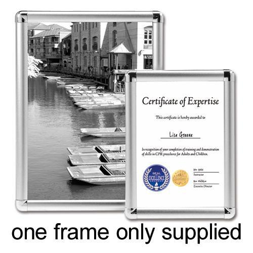 5 Star Facilities Clip Display Frame Aluminium with Fixings Front-loading A2 420x13x594mm Silver by The OT Group, 214528