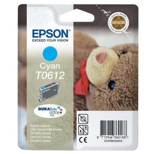 Epson T0612 Inkjet Cartridge Teddybear Page Life 250pp 8ml Cyan Ref C13T06124010