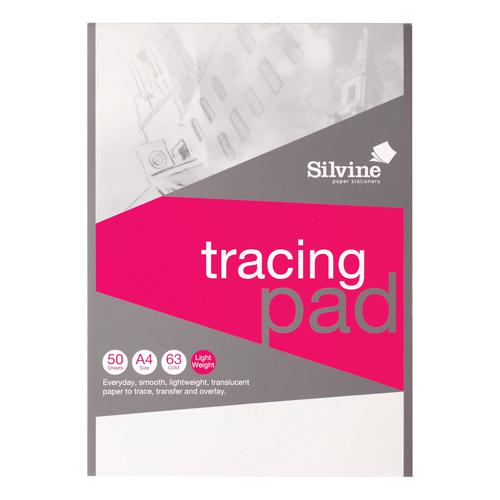 Silvine Tracing Pad Acid Free Paper 50gsm 50 Sheets A4
