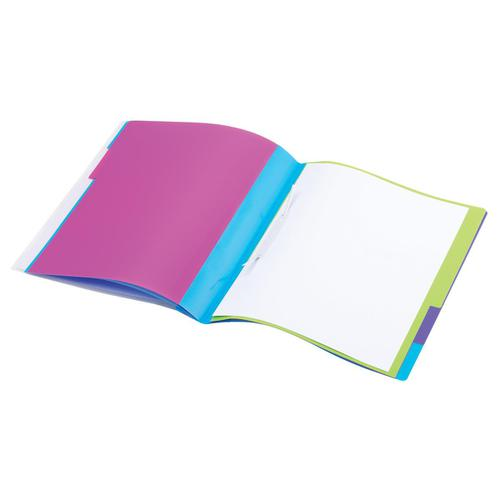 Rexel JOY Part File Polypropylene with Colour-coded Indexed Sections 5-Part A4 Ref 62146
