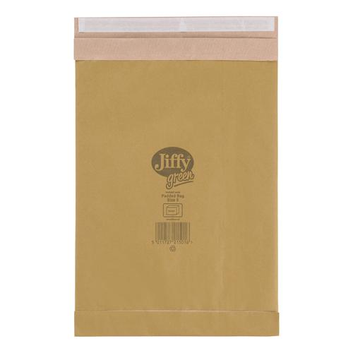 Jiffy Padded Bag Envelopes Size 5 245x381mm Brown Ref JPB-5 [Pack 100]