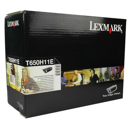Lexmark T650/T652/T654 LaserTonerCartridge Return Progamme HY Page Life 25000pp Black Ref T650H11E
