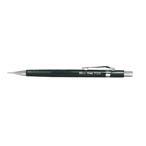 Pentel P205 Mechanical Pencil with Eraser Steel-lined Sleeve with 6 x HB 0.5mm Lead Ref XP205