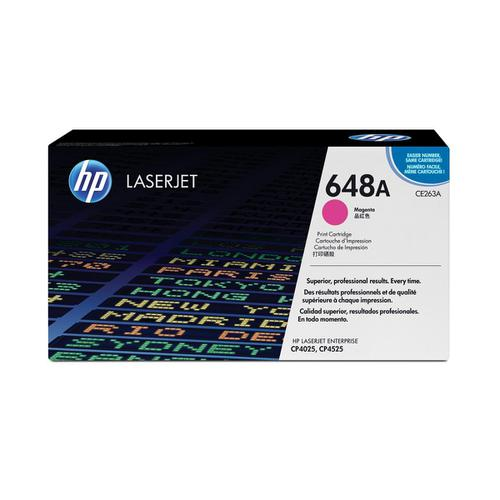 HP 648A Laser Toner Cartridge Page Life 11000pp Magenta Ref CE263A