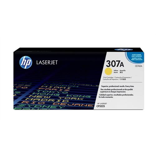 HP 307A Laser Toner Cartridge Page Life 7300pp Yellow Ref CE742A