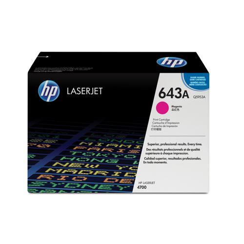 HP 643A Laser Toner Cartridge Page Life 10000pp Magenta Ref Q5953A