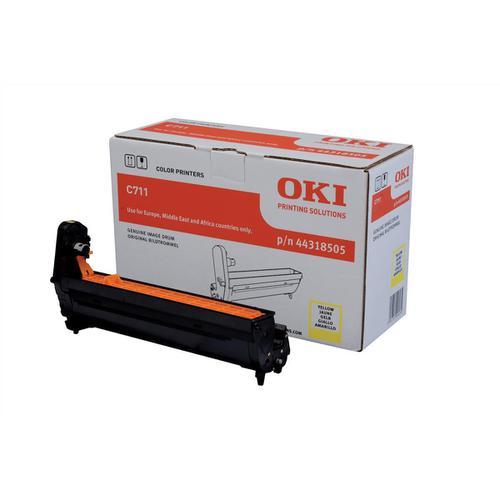 OKI Laser Drum Unit Page Life 20000pp Yellow Ref 44318505