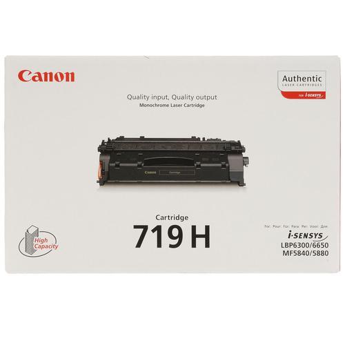 Canon CRG-719H Laser Toner Cartridge High Yield Page Life 6400pp Black Ref 348B002AA