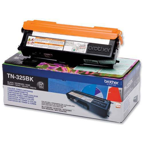 Brother Laser Toner Cartridge High Yield Page Life 4000pp Black Ref TN325BK