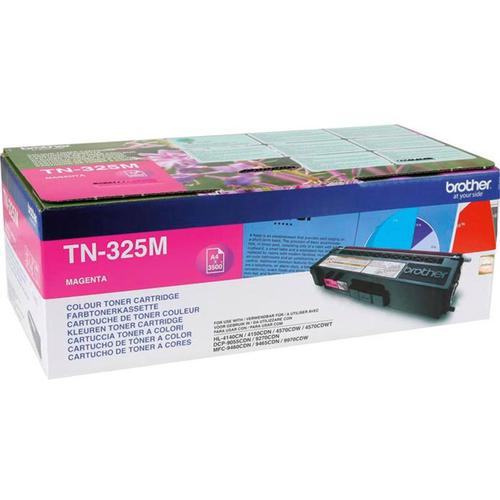 Brother Laser Toner Cartridge High Yield Page Life 3500pp Magenta Ref TN325M