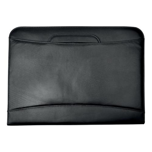 5 Star Office Zipped Conference Ring Binder with Handles Capacity 60mm Leather Look A4 Black by The OT Group, 259634