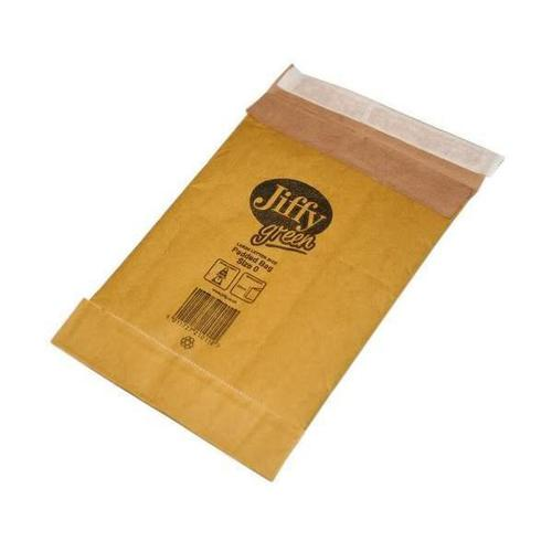 Jiffy Padded Bag Envelopes Size 0 Peel and Seal 135x229mm Brown Ref JPB-0 [Pack 200]