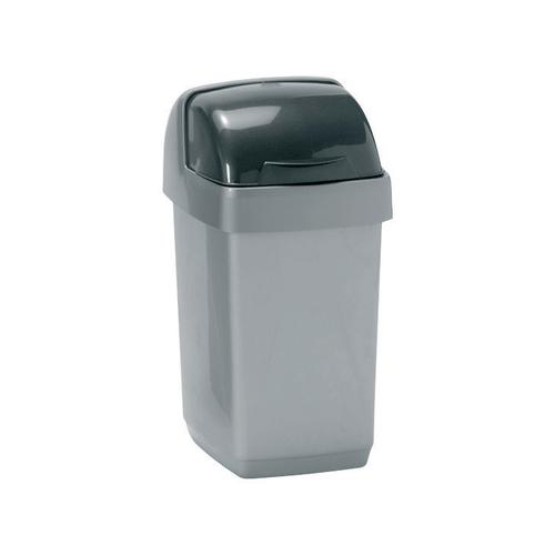 Addis Roll Top Bin Plastic 10 Litres Grey 510504