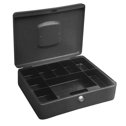 5 Star Facilities High Capacity Cash Box 8 Part Coin Tray 1 Part Note Section W300xD230xH90mm Titanium