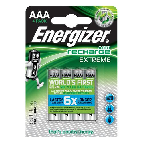 Energizer Battery Rechargeable Advanced NiMH Capacity 700mAh LR03 1.2V AAA Ref E300624400 [Pack 4]