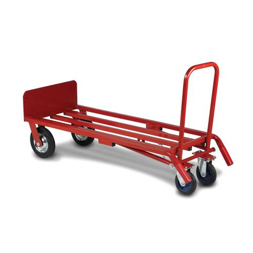 5 Star Facilities Sack Truck Heavy Duty 3 Position Steel Frame Double Rear Castors Capacity 300kg Red by The OT Group, 271592
