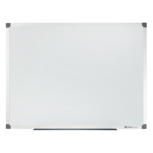 Nobo Classic Nano Drywipe Board Magnetic Steel with Fixings Slim Frame W1800xH900mm White Ref 1902645