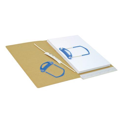 File Fastener Self Adhesive 3 Part Blue/White [Pack 100]