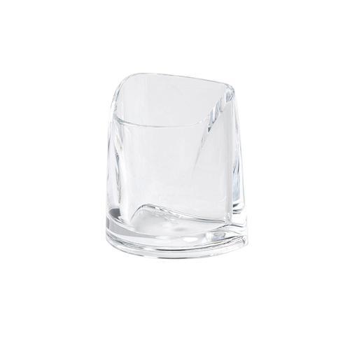 Rexel Nimbus Pen Pot Acrylic Large Clear Ref 2101502