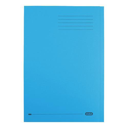 Elba StrongLine Square Cut Folder 320gsm 32mm Foolscap Blue Ref 100090020 [Pack 50]
