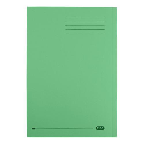 Elba StrongLine Square Cut Folder 320gsm 32mm Foolscap Green Ref 100090022 [Pack 50]