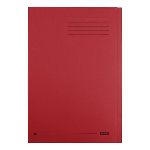 Elba StrongLine Square Cut Folder 320gsm 32mm Foolscap Bordeaux Ref 100090025 [Pack 50]