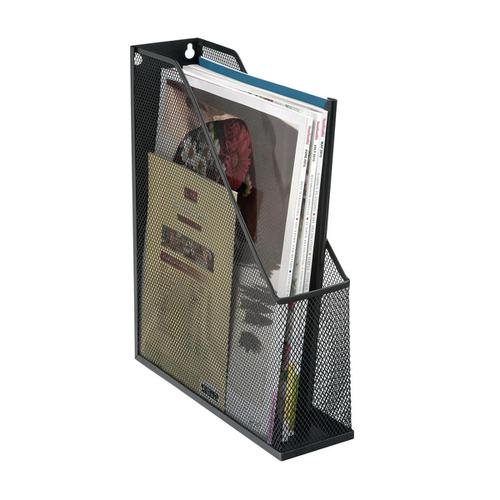 5 Star Office Mesh Magazine Rack Scratch Resistant with Non Marking Rubber Pads A4 Plus Black by The OT Group, 287934